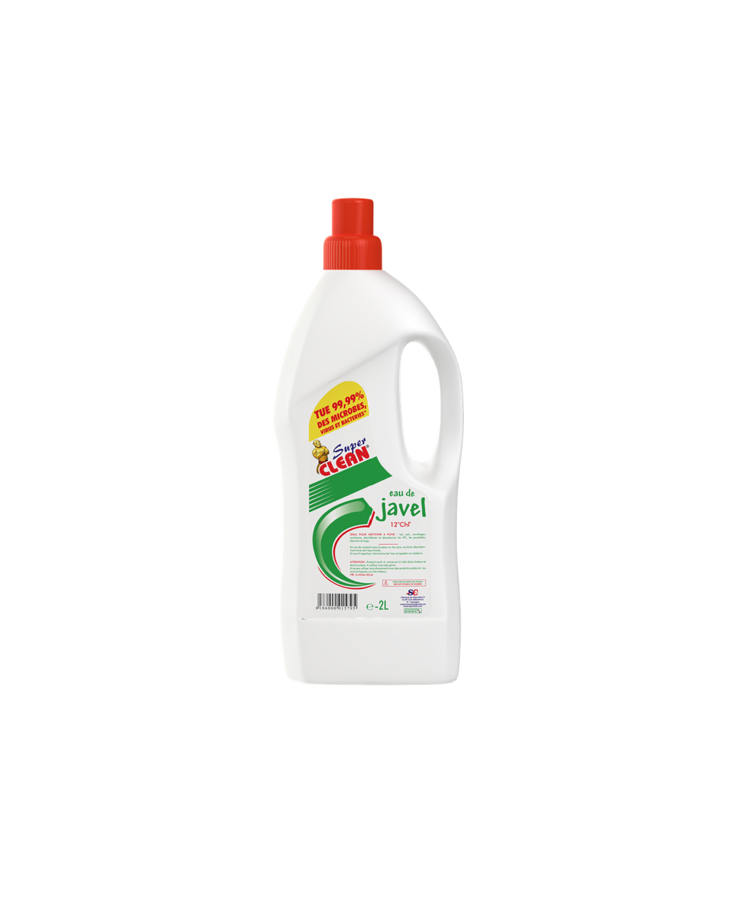 SUPER CLEAN_Eau de Javel 12° 2L
