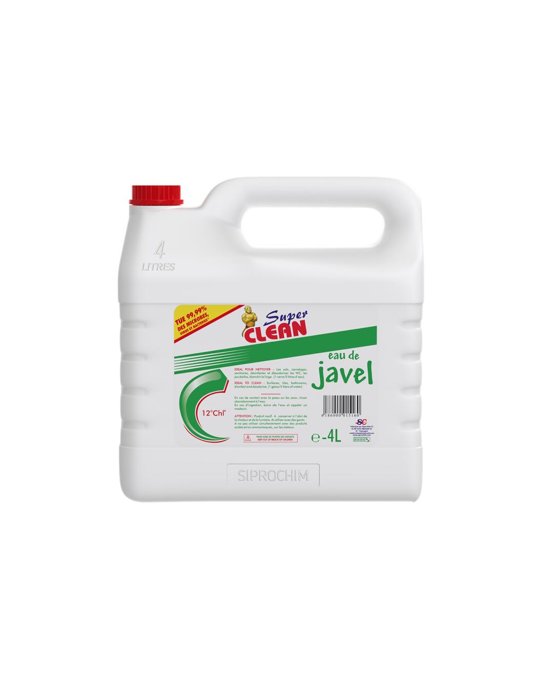 SUPER CLEAN_Eau de Javel 12° 4L
