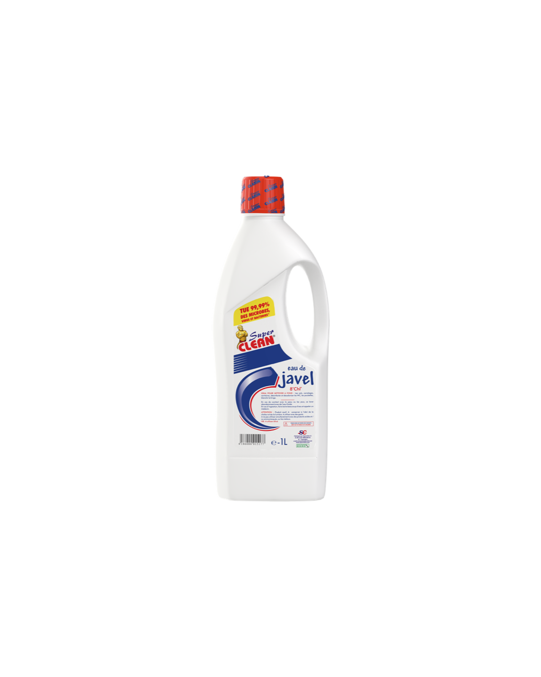 SUPER CLEAN_Eau de Javel 8° 1L