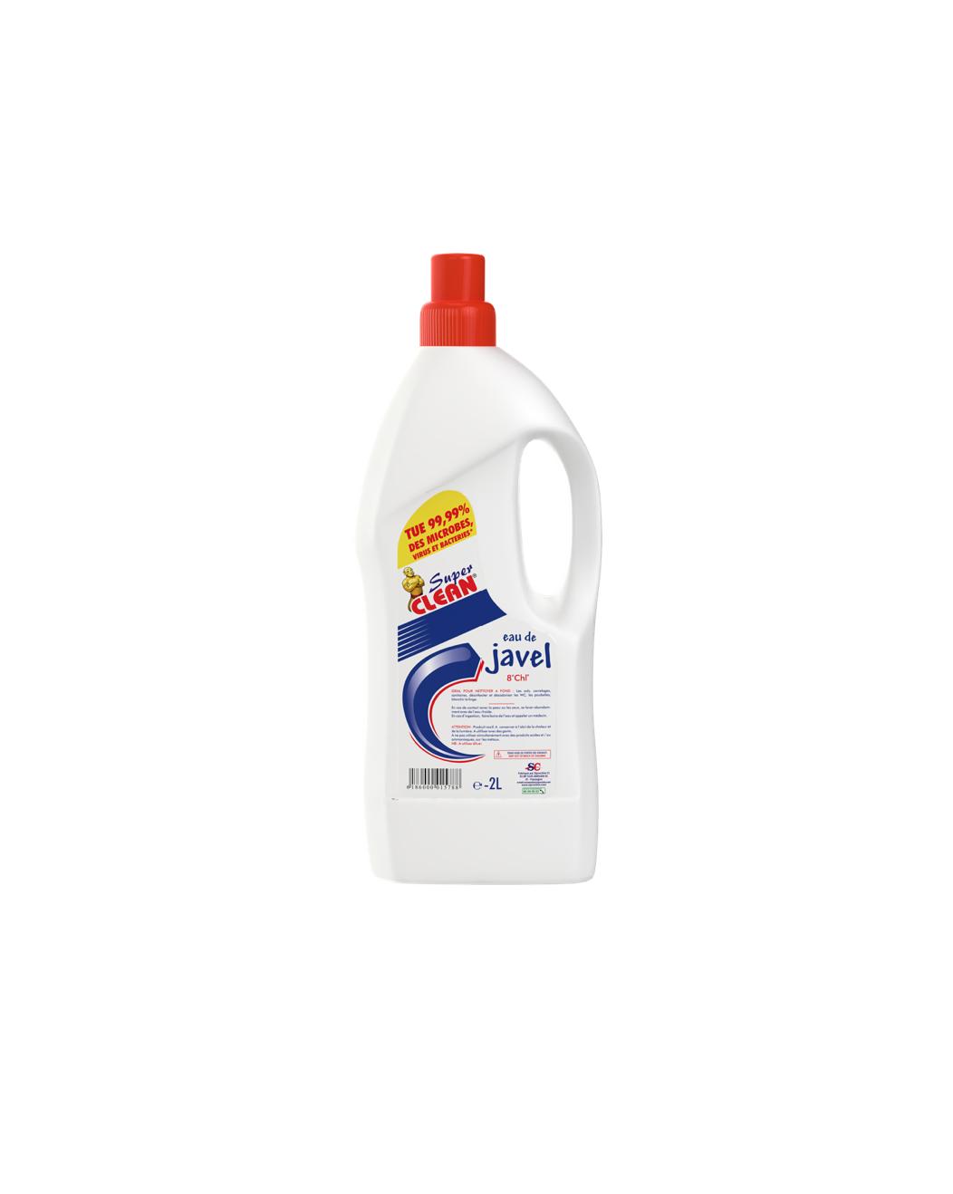 SUPER CLEAN_Eau de Javel 8° 2L