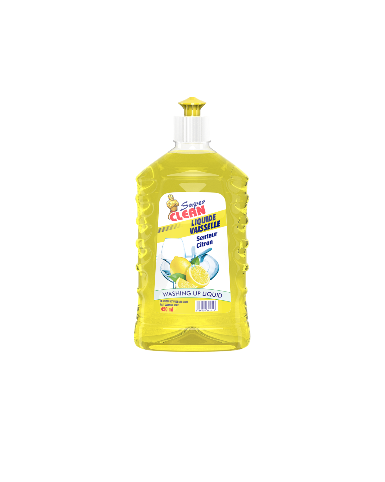 SUPER CLEAN_Liquide Vaisselle Citron 450ml_siprochim