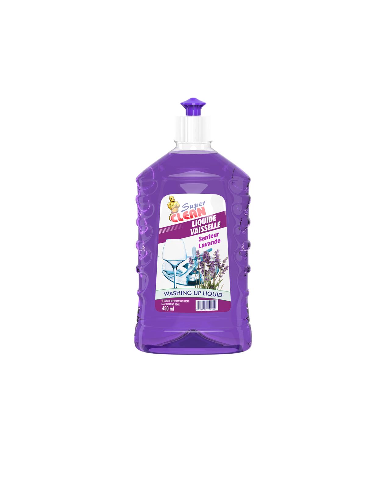 SUPER CLEAN_Liquide Vaisselle Lavande 450ml_Siprochim
