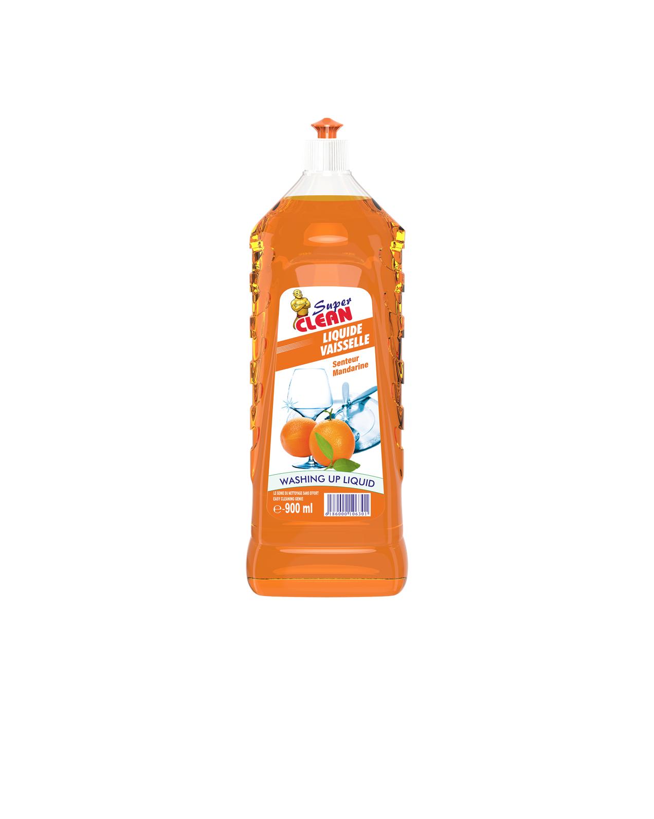SUPER CLEAN_Liquide Vaisselle Mandarine 900ml_Siprochim