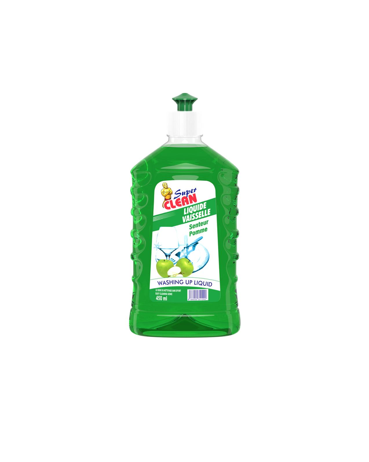 SUPER CLEAN_Liquide Vaisselle Pomme 450ml_Siprochim