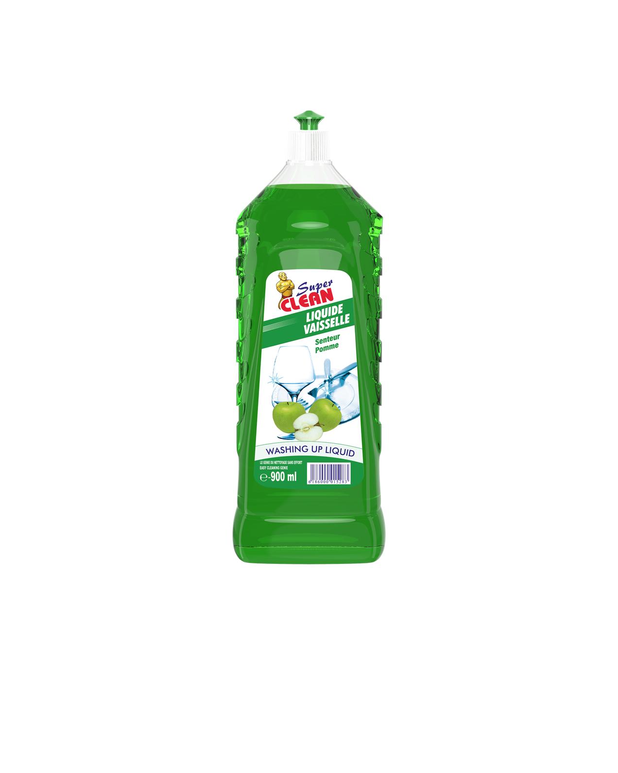 SUPER CLEAN_Liquide Vaisselle Pomme 900ml_siprochim