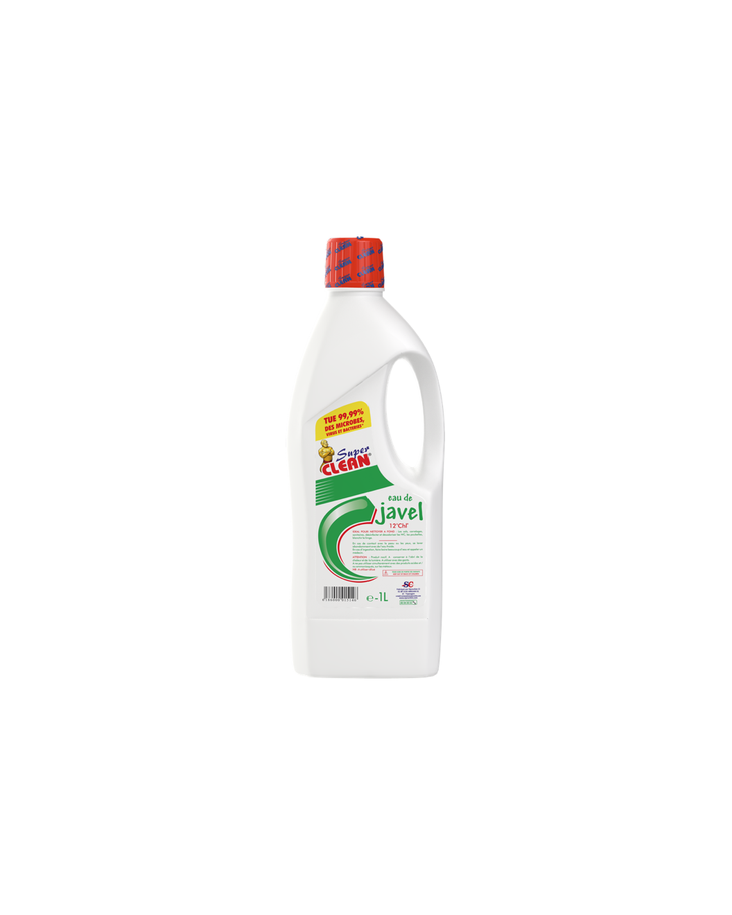 SUPER CLEAN_Eau de Javel 12° 1L