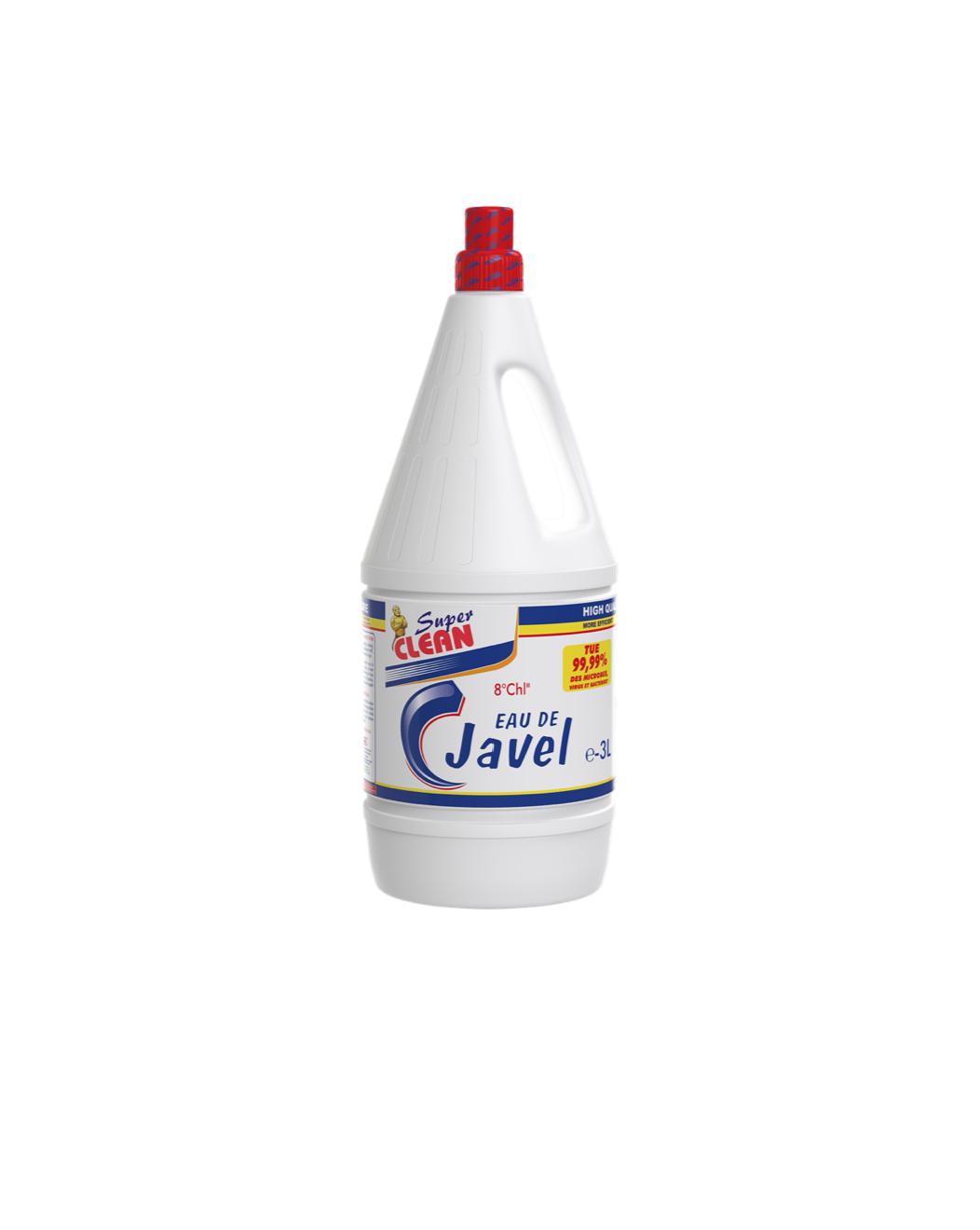 SUPER CLEAN_Eau de Javel 8° 3L