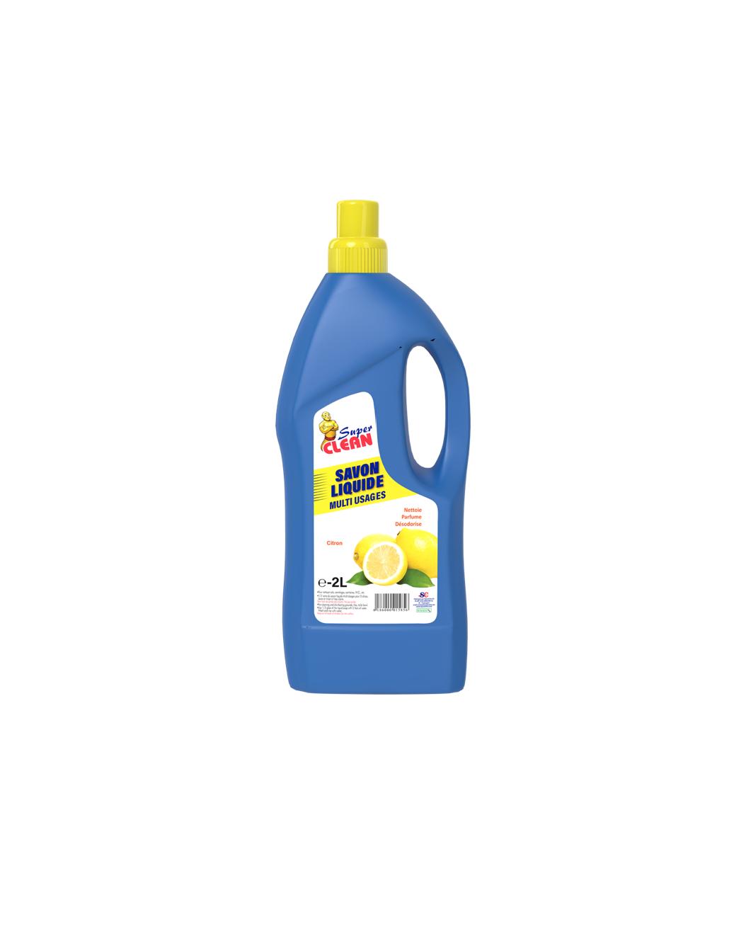 SUPER CLEAN_Savon Liquide Parfume Citron 2L