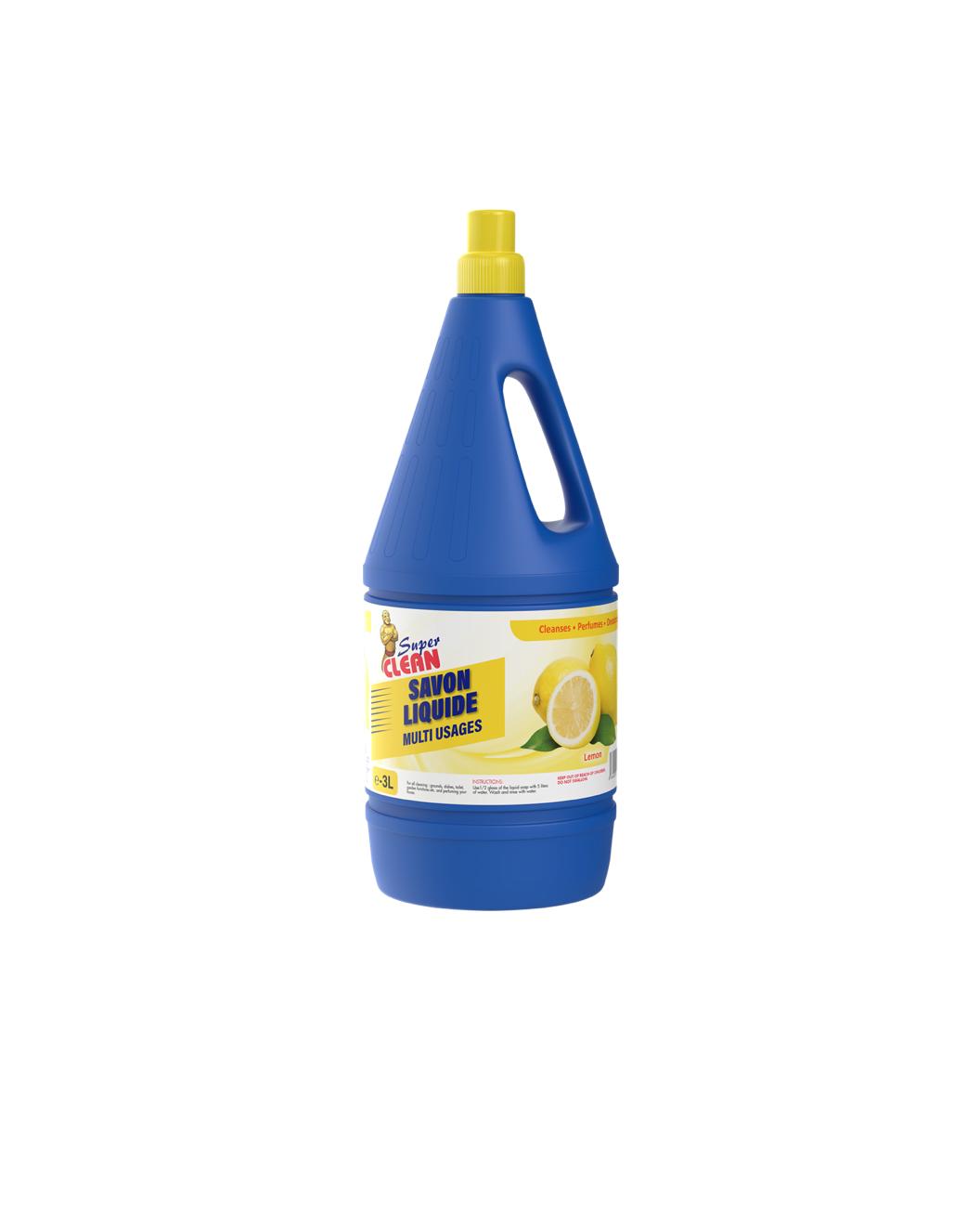 SUPER CLEAN_Savon Liquide Parfume Citron 3L