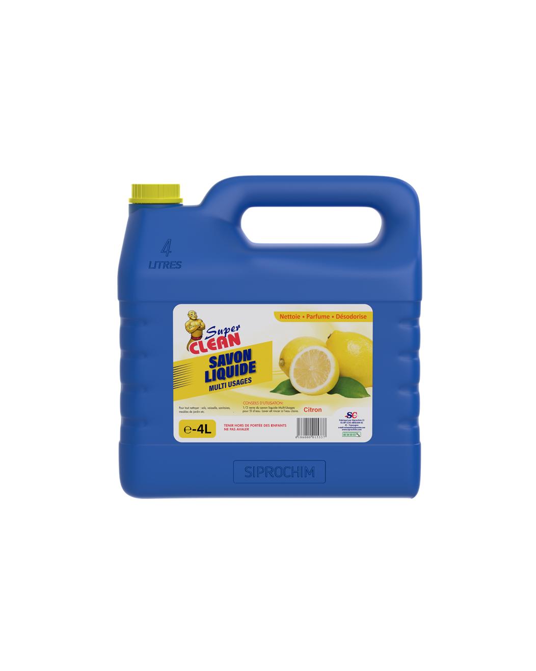 SUPER CLEAN_Savon liquide 4L citron