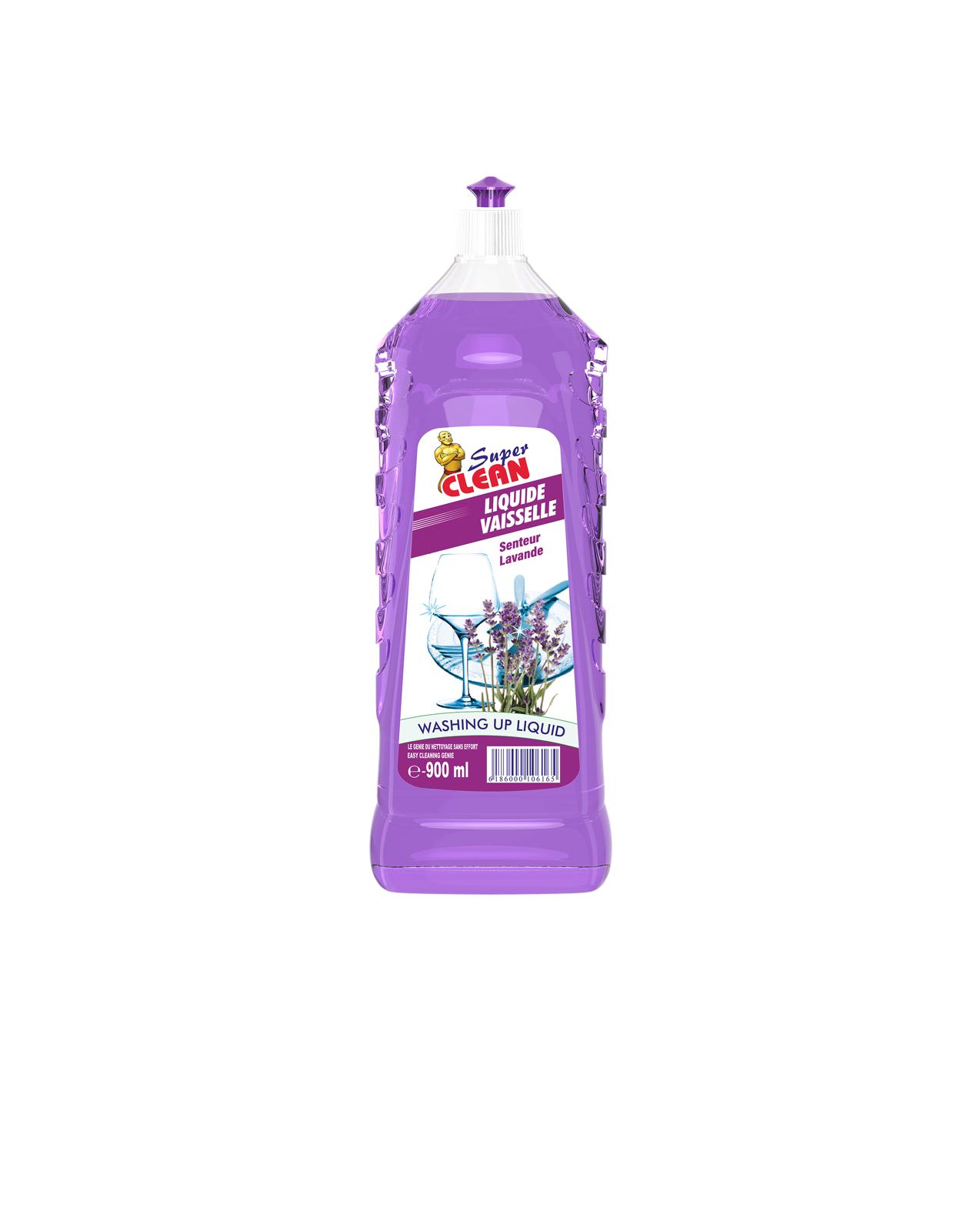 SUPER CLEAN_Liquide Vaisselle Lavande 900ml_Siprochim
