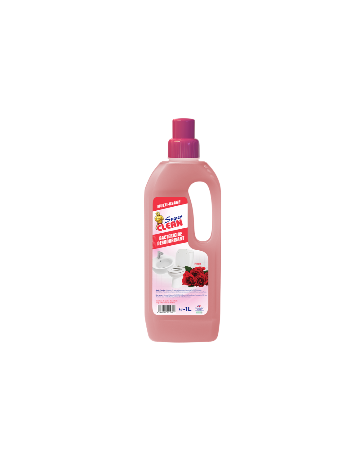 Bactéricide Super Clean Rose 1L_Siprochim